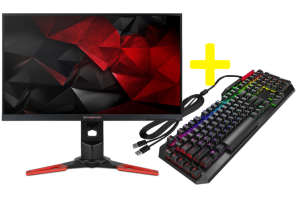 ACER Predator 27'' XB271HU 2K 4ms 165Hz G-SYNC + HP OMEN Sequencer MX BLUE